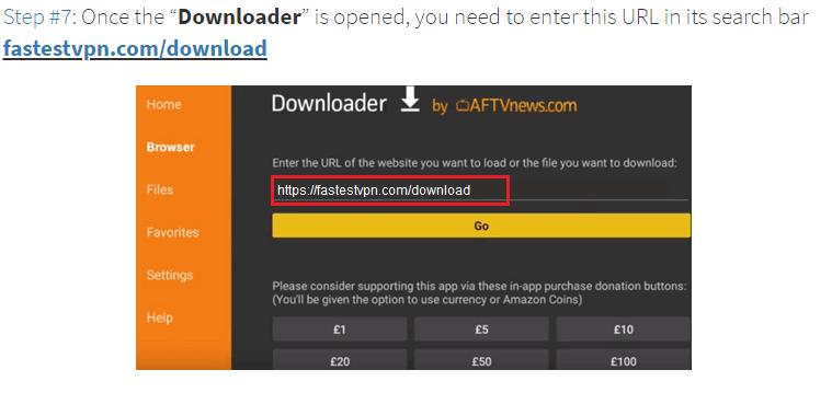 Step 7 Opened Downloader App
