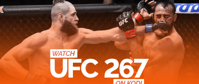 Watch UFC 267 on Kodi
